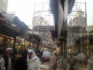 Peshawar's crowded Saddar Bazaar—Altaf Hussain, a local flour seller, says that a dozen funerals have been held in this neighbourhood after the Tehrik-e-Taliban attack on the Army Public School in Peshawar.